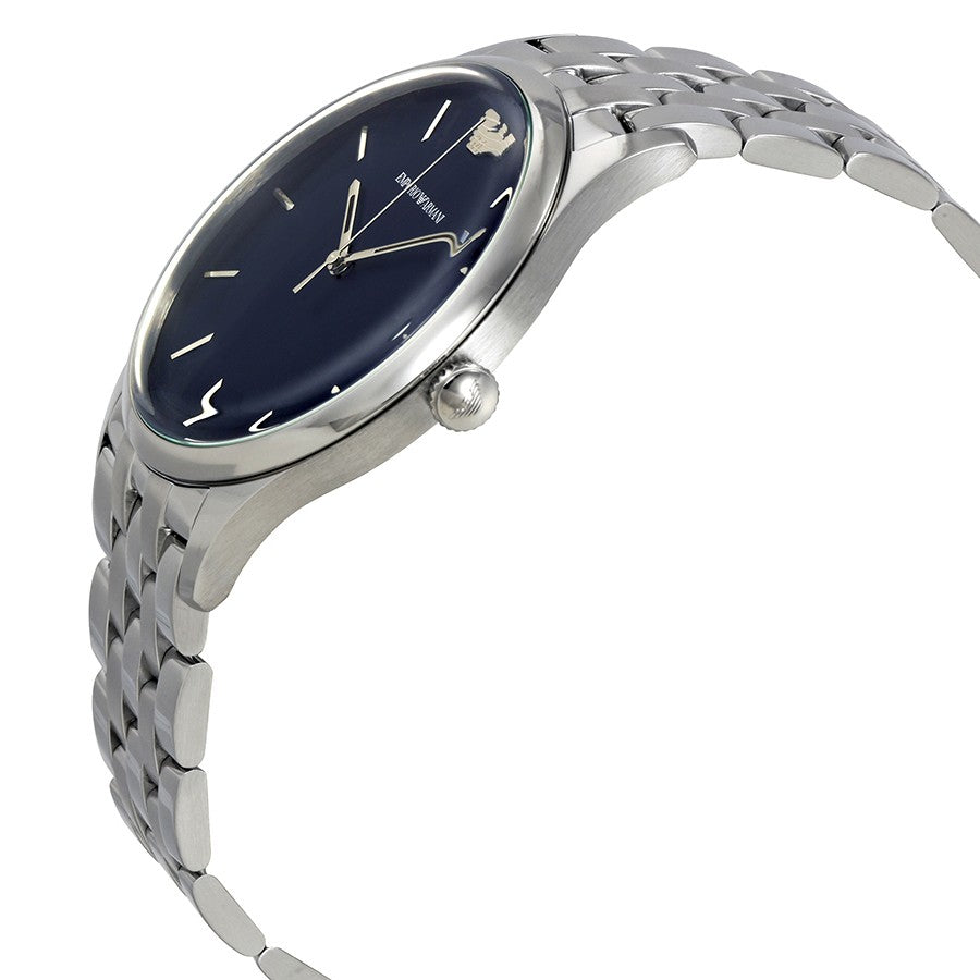 Blue Dial Men's Stainless Steel Watch