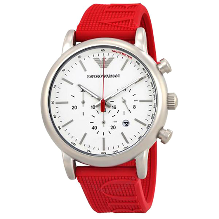 Chronograph White Dial Men's Watch