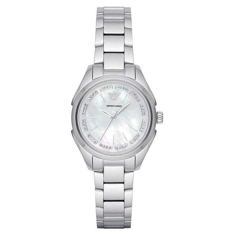 Armani Valeria Mother Of Pearl Dial Stainless Steel Bracelet Ladies Watch