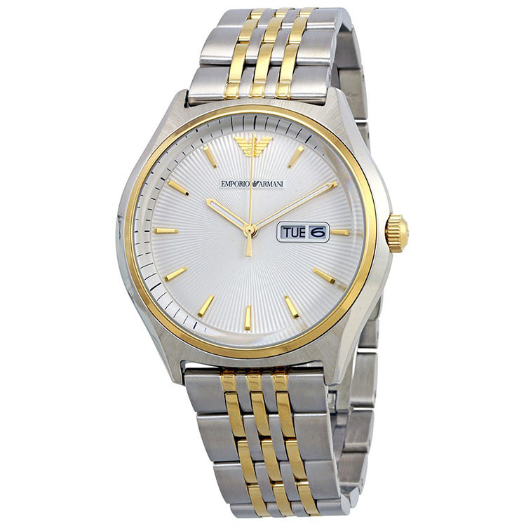 Cream Dial Men's Two Tone Stainless Steel Watch