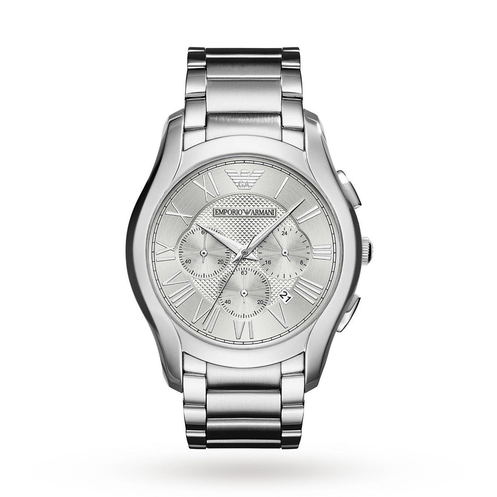 Brushed Silver Dial Men's Chronograph Watch