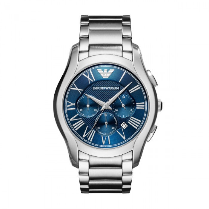 Brushed Blue Dial Men's Chronograph Watch