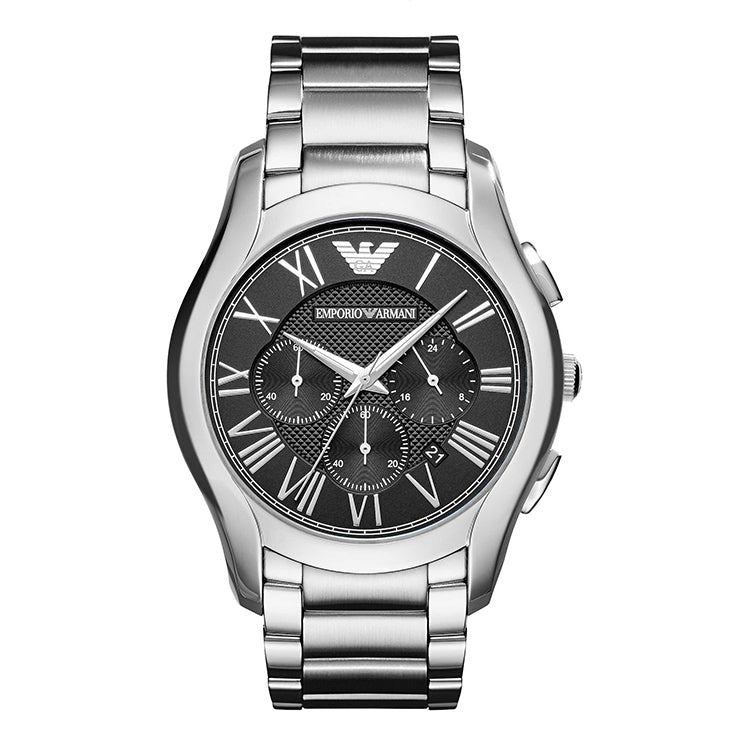 Brushed Black Dial Men's Chronograph Watch