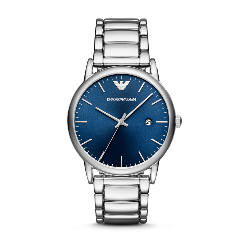 Armani Luigi Blue Sunray Dial Men's Watch