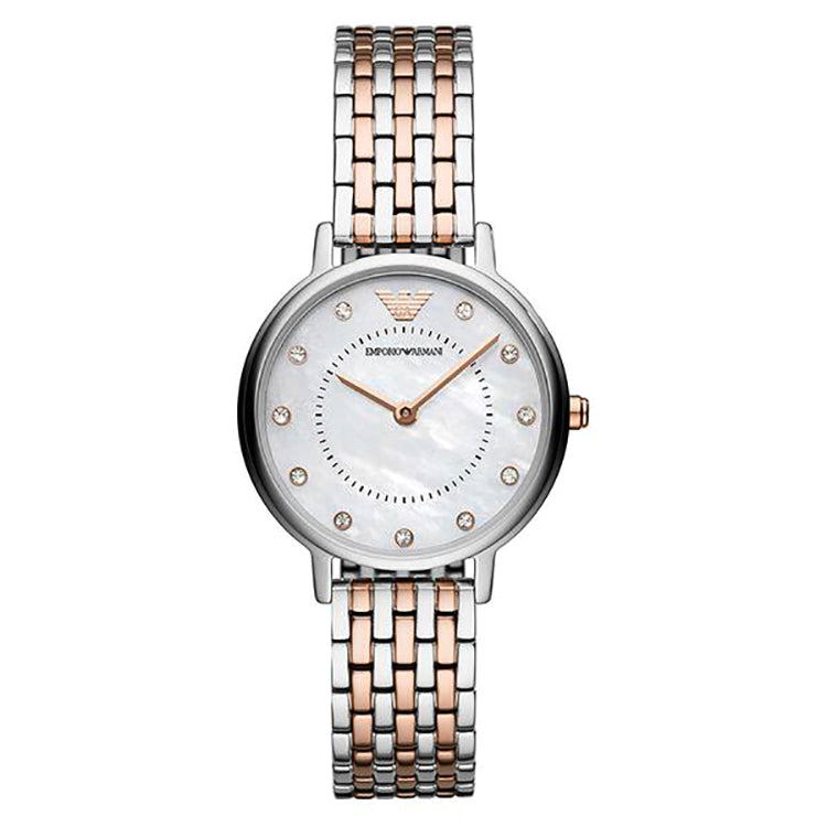 Kappa Mother Of Pearl Dial Two Tone Stainless Steel Ladies Watch