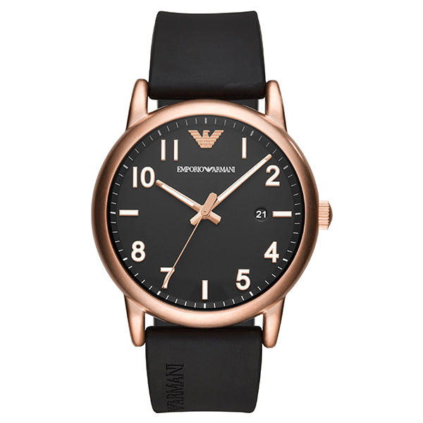 Armani Luigi Black Dial Men's Watch