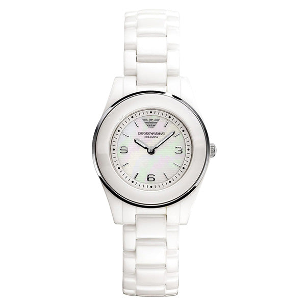 Ceramica Mother of Pearl Dial White Ceramic Ladies Watch