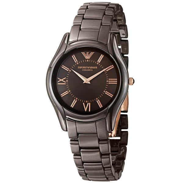 Ceramica Brown Dial Brown Ceramic Ladies' Watch