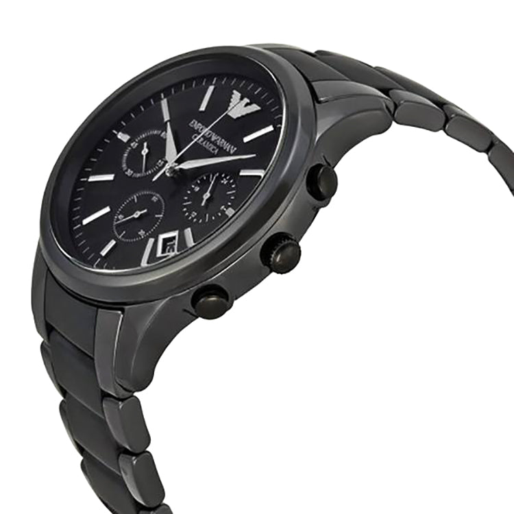 Ceramica Chronograph Black Dial Black Ceramic Men's Watch