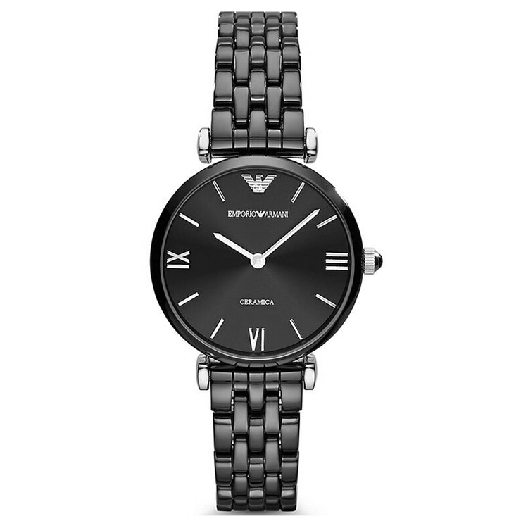 Ceramica Retro Black Dial Black Ceramic Ladies Watch