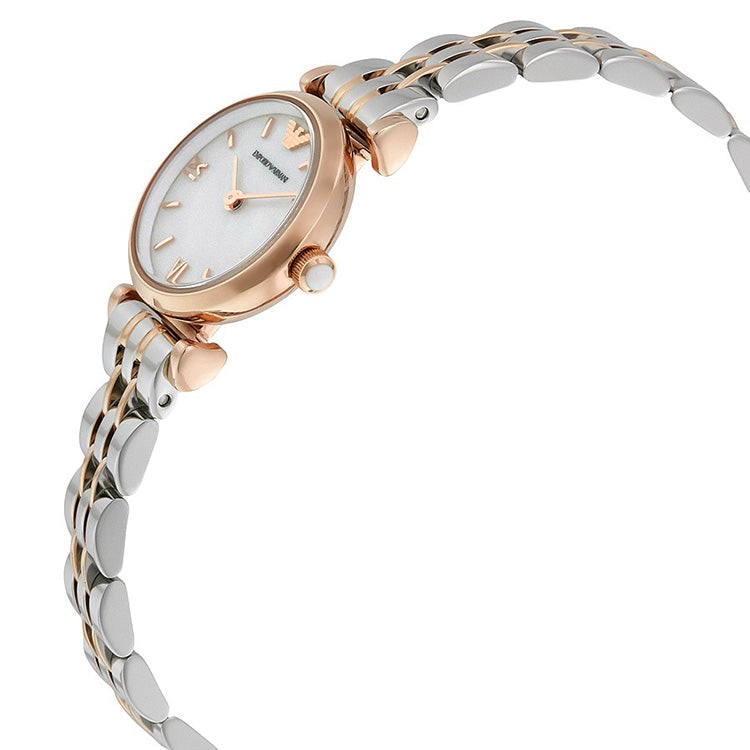 Classic White Mother Of Pearl Dial Ladies Watch