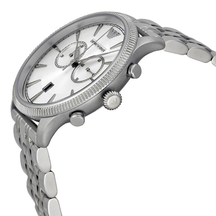 Emporio Classic Chronograph Silver Dial Stainless Steel Men's Watch
