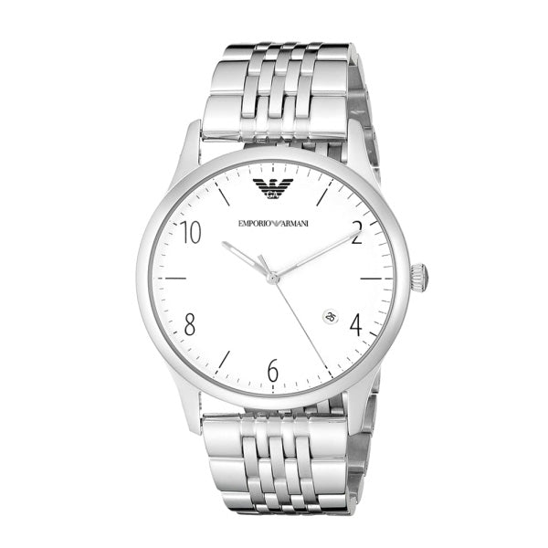 Classic Silver Dial Stainless Steel Quartz Men's Watch