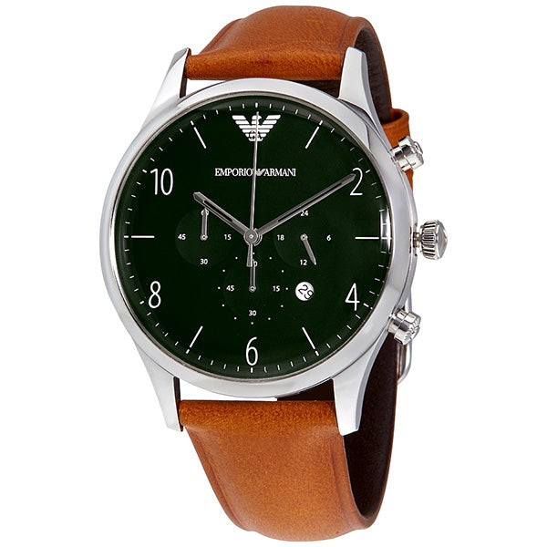 Dress Green Dial Men's Chronograph Watch