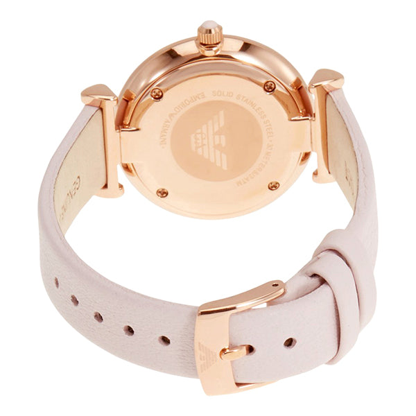 Retro Pink Mother Of Pearl Dial Ladies Watch