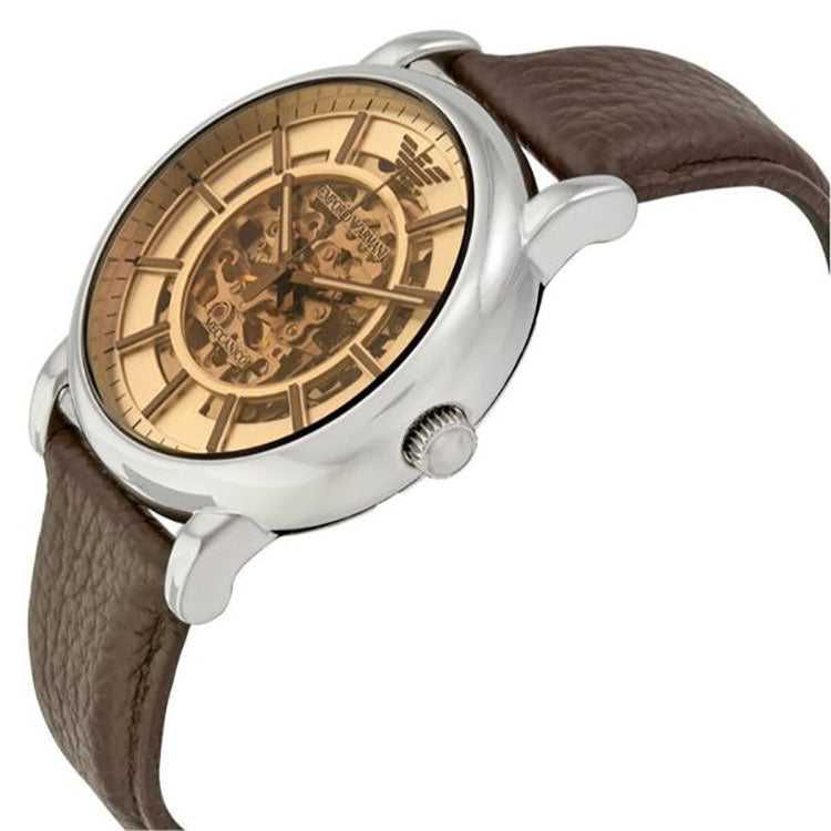 Luigi Meccanico Brown Dial Automatic Men's Watch