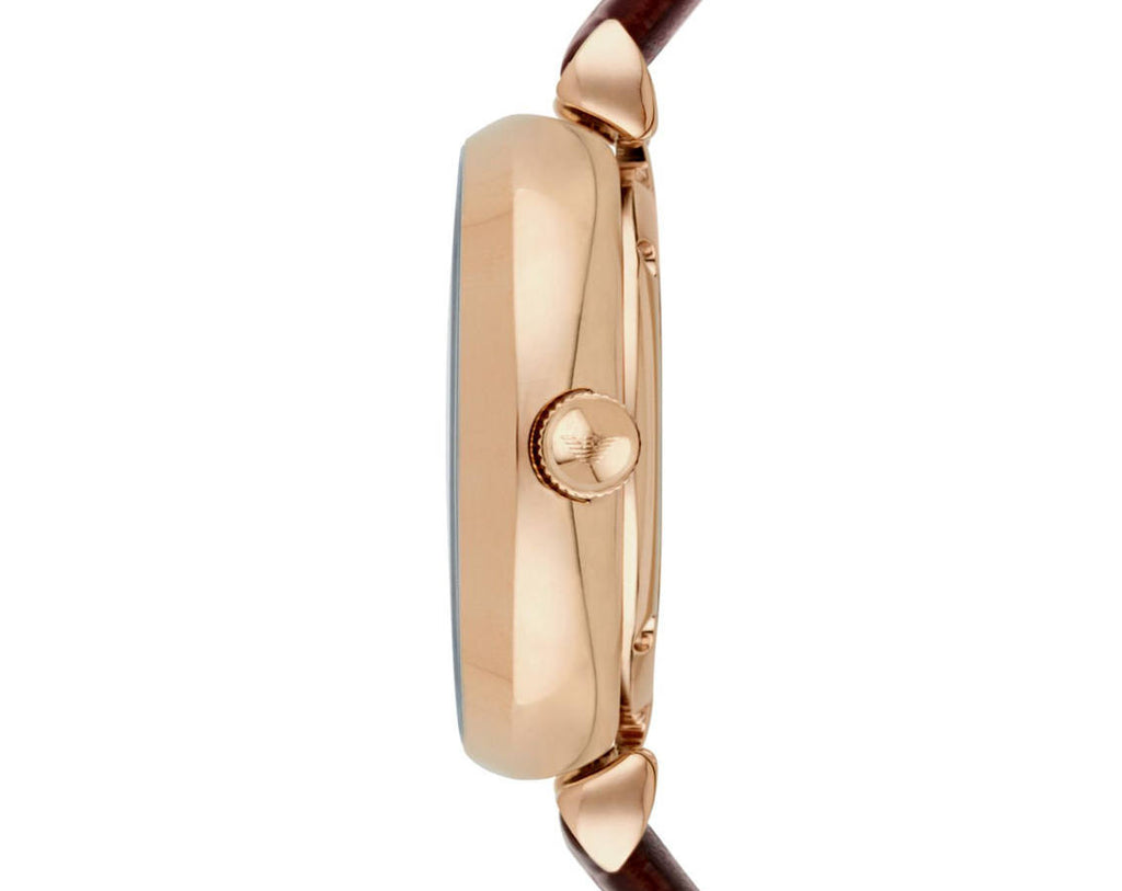 Armani Retro Mother of Pearl Mechanical Ladies Watch