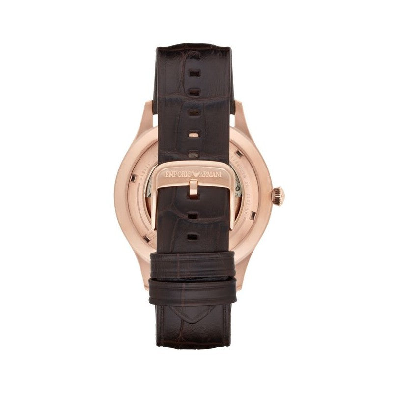 Meccanico Skeleton Dial Brown Leather Men's Watch