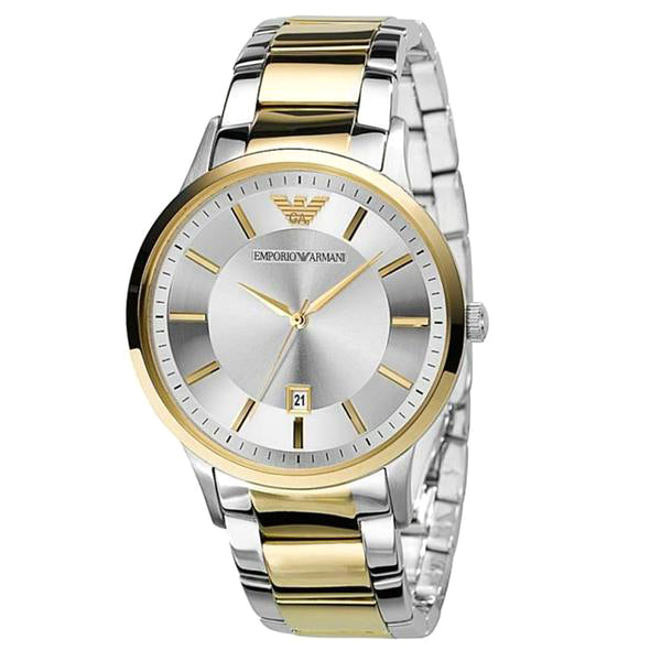 Emporio Sportivo Silver Dial Two-tone Stainless Steel Men's Watch