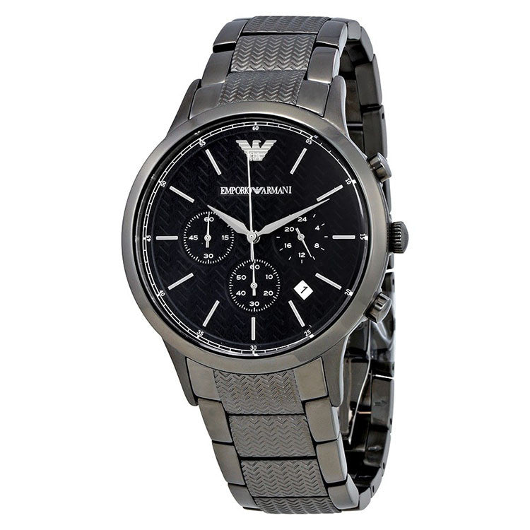 Armani Renato Navy Blue Dial Chronograph Men's Watch