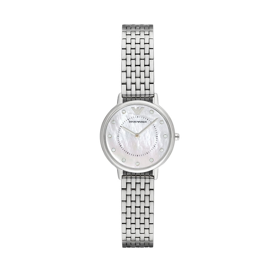 Silver Stainless Steel Mother Of Pearl Dial Ladies' Watch