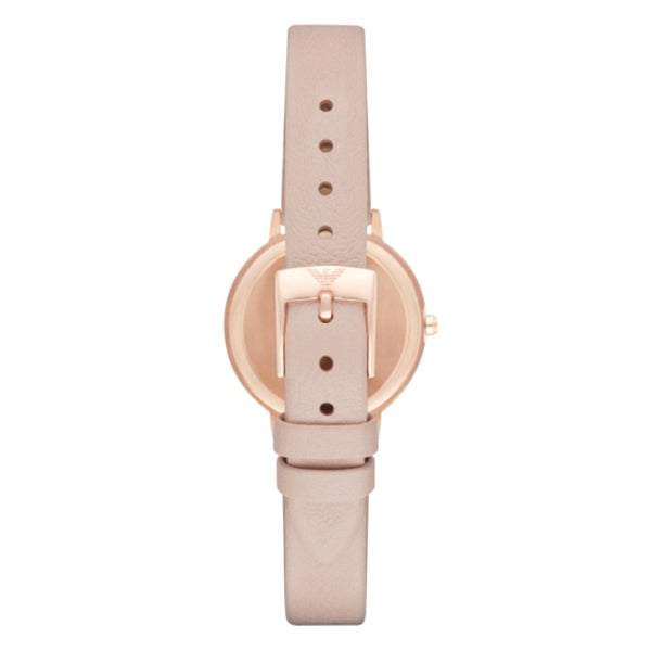 Mother Of Pearl Dial Nude Leather Ladies Watch