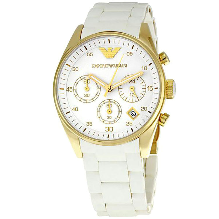 Emporio Sportivo Chronograph Gold Ladies Watch