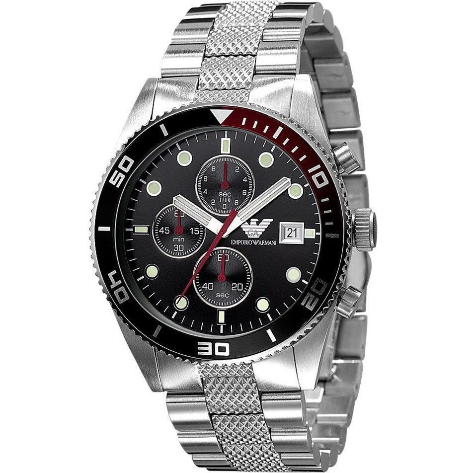 Stainless Steel Black Dial Mens' Watch