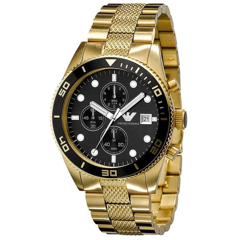 Gold Stainless Steel Mens' Watch