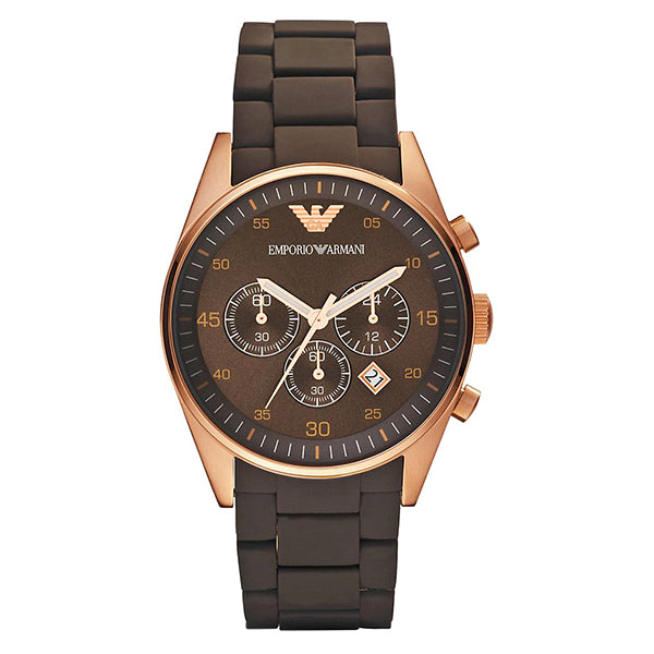 Emporio Sport Chronograph Brown Dial Men's Watch