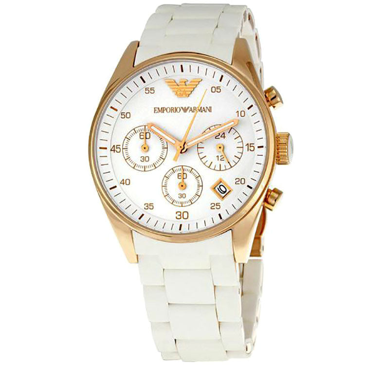 Emporio Sportivo Chronograph Rose Gold Ladies Watch