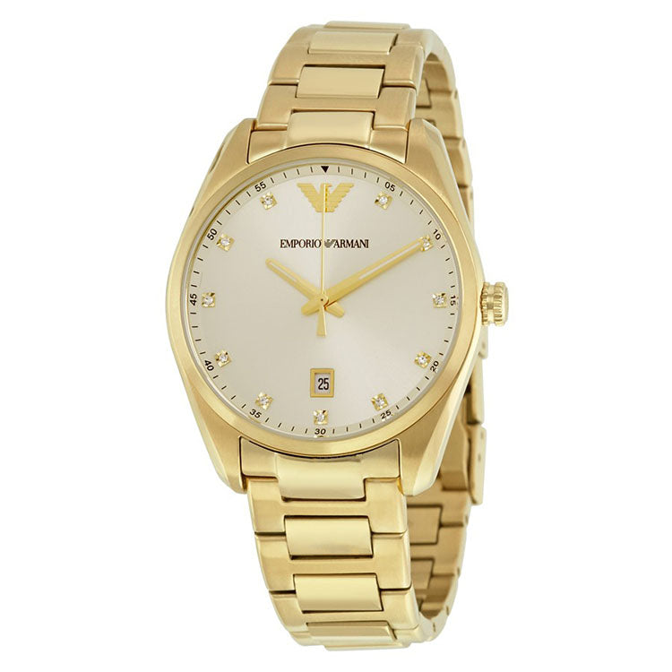 Classic Champagne Sunray Dial Ladies Watch