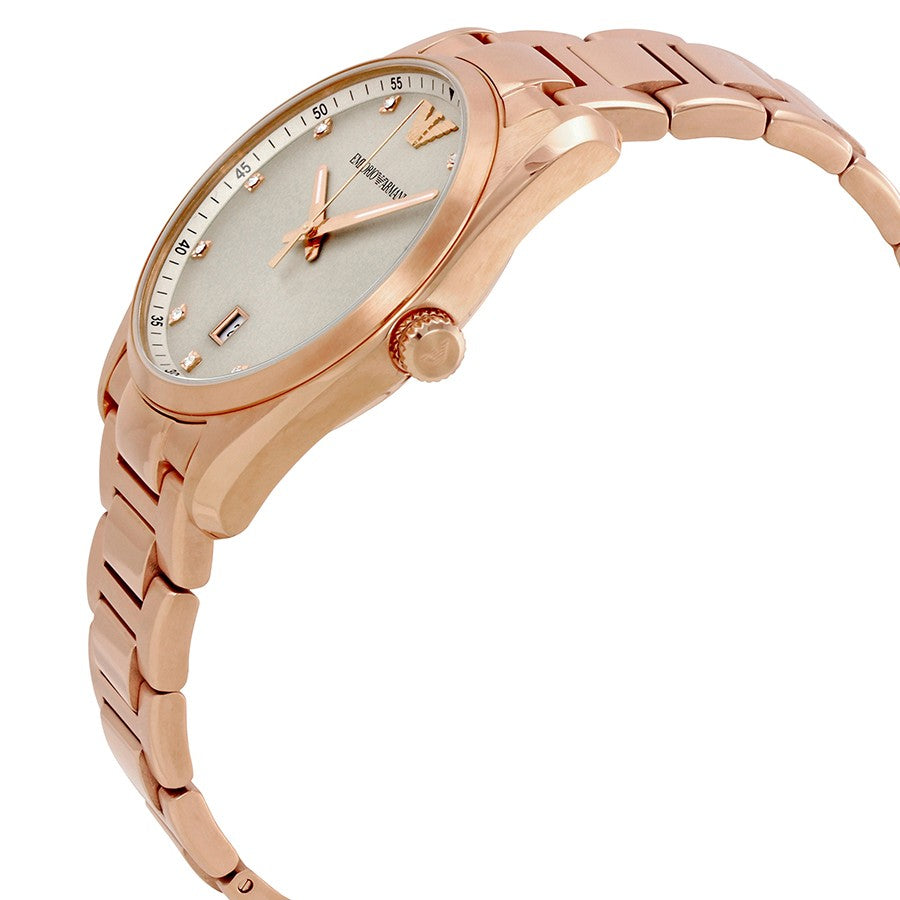 Classic Silver Sunray Dial Ladies Watch