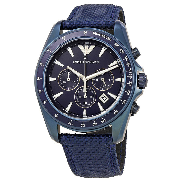 Blue Sunray Dial Men's Chronograph Watch