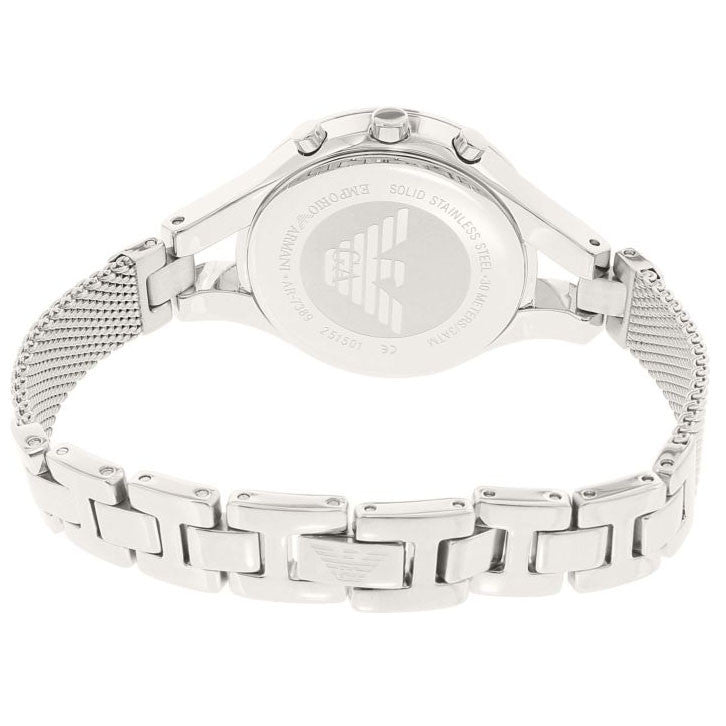 White Chronograph Mother Of Pearl Ladies Watch