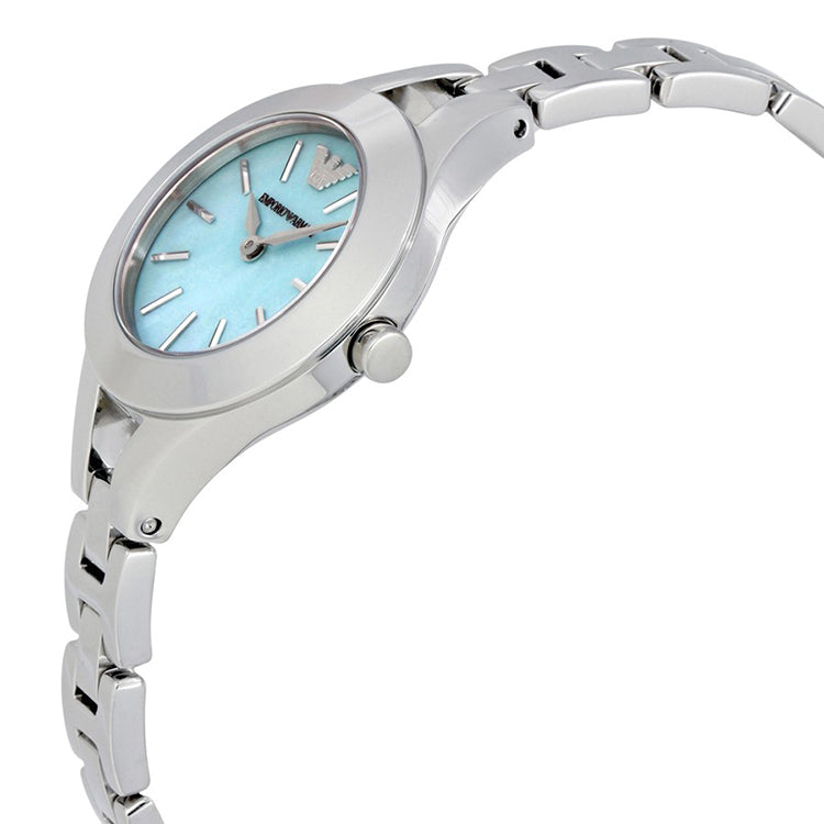 Dress Sea Blue Mother Of Pearl Dial Ladies Watch