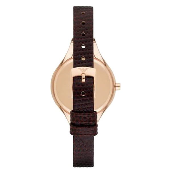 Mother Of Pearl Dial Brown Leather Strap Ladies Watch
