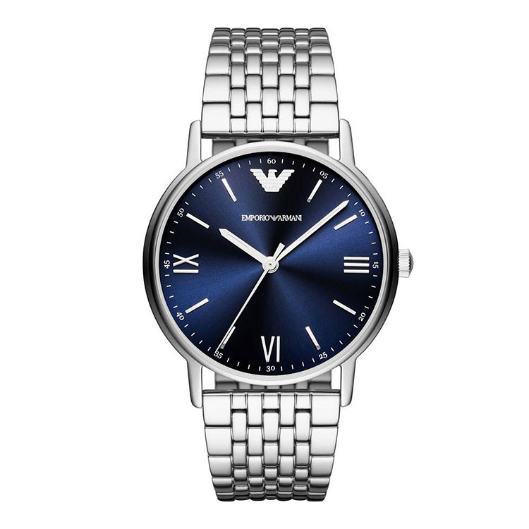 Blue Dial Stainless Steel Men's Watch