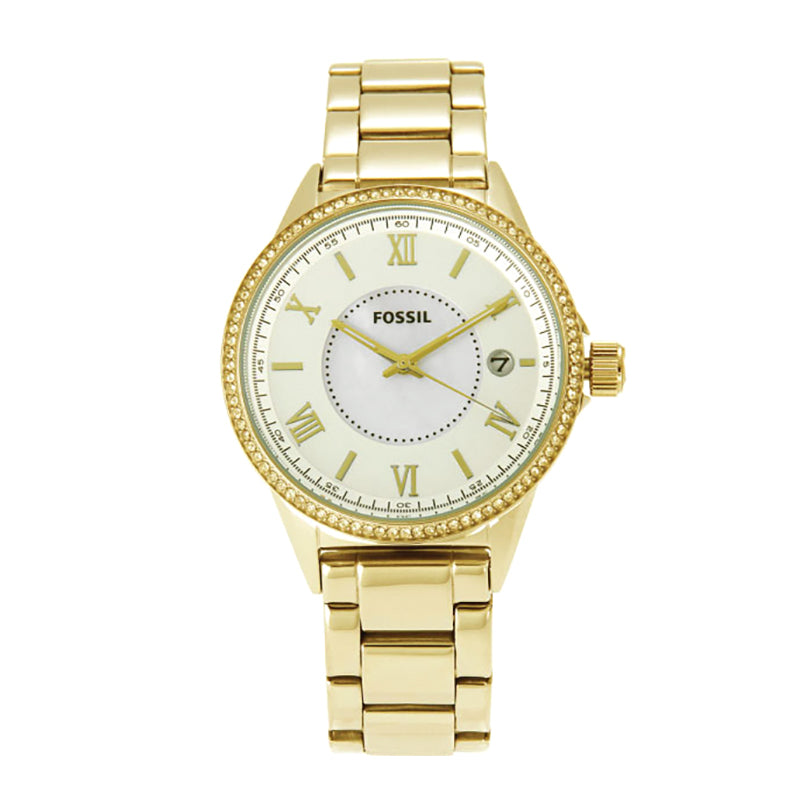 Gold Dial Gold Stainless Steel Bracelet Ladies' Watch