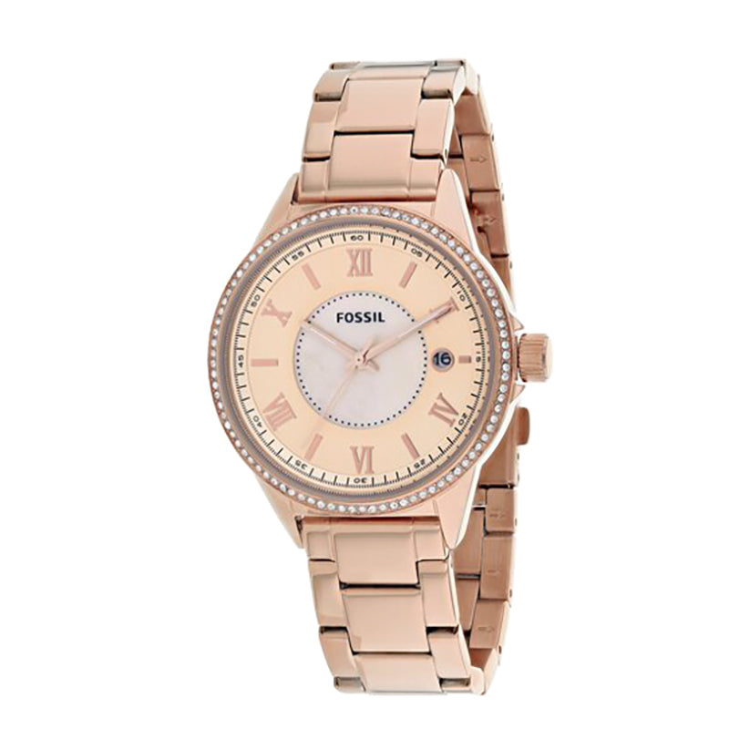 Rose Gold Dial Rose Gold Stainless Steel Bracelet Ladies' Watch