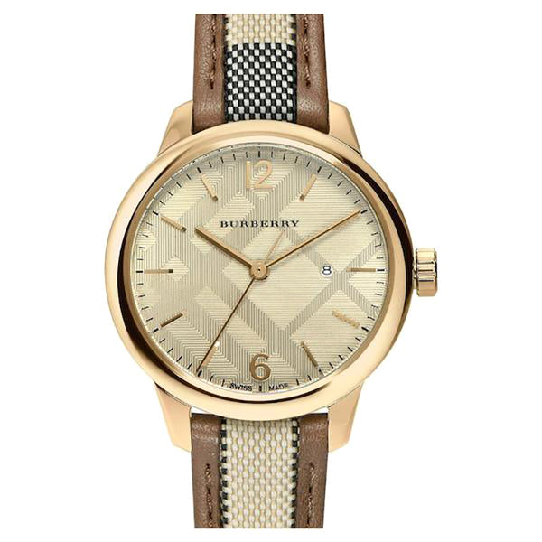 The Classic Check Chronograph Gold Dial Ladies' Watch
