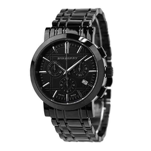 Heritage Black Chronograph Dial Stainless Steel Watch