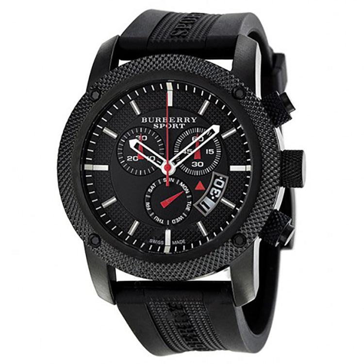 Endurance Chronograph Black Dial Black PVD Men's Watch
