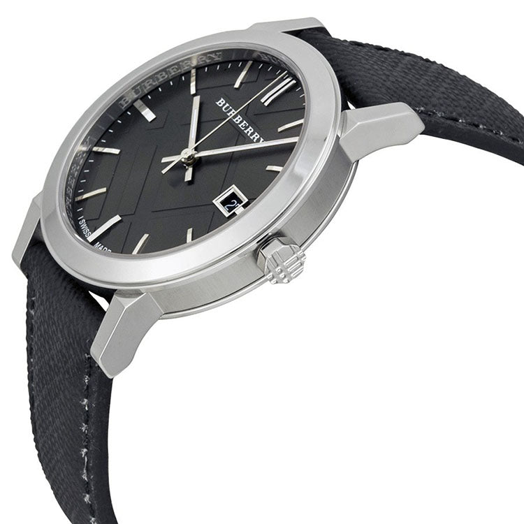 Grey Dial Black Polyvinyl Strap Men's Watch