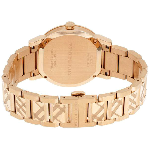 The City Rose Gold Dial Rose Gold Stainless Steel Swiss Ladies' Watch