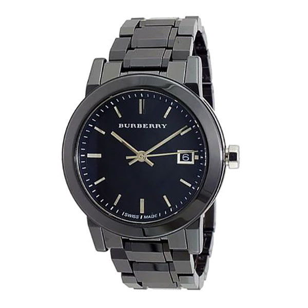 The City Black Dial Black Ceramic Swiss Ladies Watch