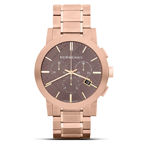 The City Chronograph Rose Gold Ion-plated Stainless Steel Men's Watch