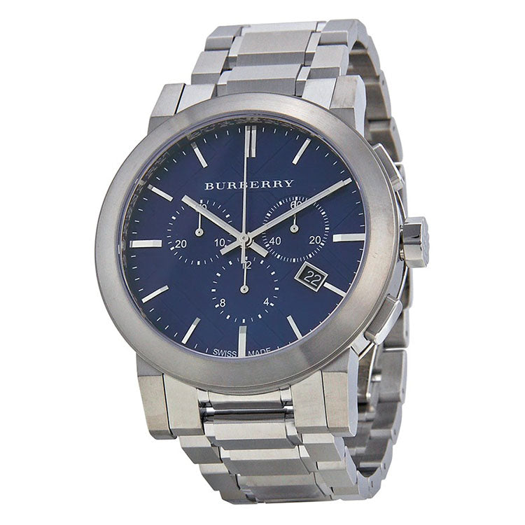 Chronograph Blue Dial Stainless Steel Men's Watch