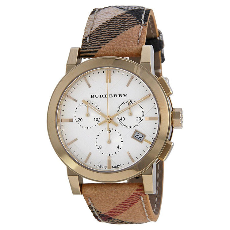 The City Chronograph White Dial Haymarket Check Unisex Watch
