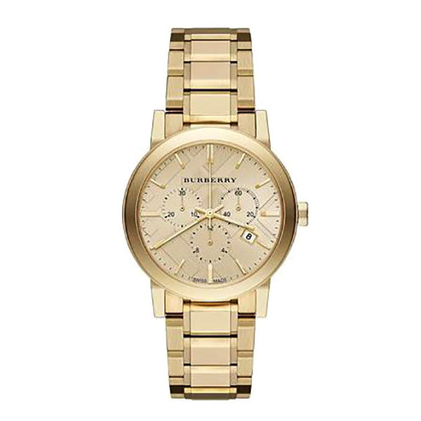 The City Chronograph Gold Ion-plated Stainless Steel Ladies' Watch